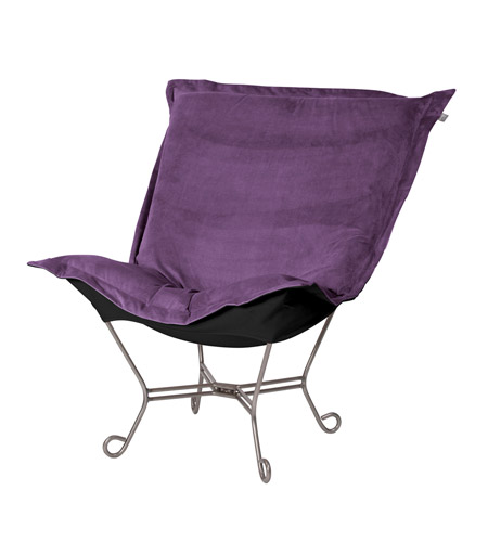 Howard Elliott Collection 500-223 Bella Deep Eggplant Accent Chair photo