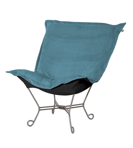Howard Elliott Collection 500-250 Mojo Turquoise Blue Accent Chair photo