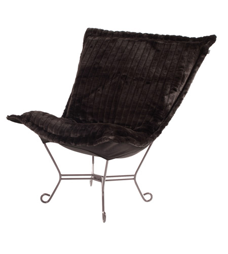 Howard Elliott Collection Black Mink Chairs