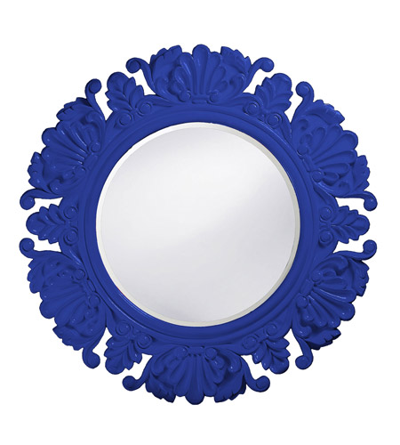 Howard Elliott Collection 51177RB Anita 44 X 44 inch Royal Blue Wall Mirror, Round photo