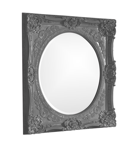 Howard Elliott Collection 51207CH Monique 34 X 30 inch Charcoal Gray Wall Mirror, Rectangle photo