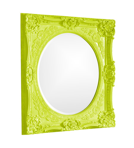 Howard Elliott Collection 51207MG Monique 34 X 30 inch Green Wall Mirror, Rectangle photo