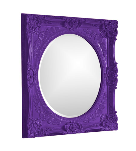 Howard Elliott Collection 51207RP Monique 34 X 30 inch Royal Purple Wall Mirror, Rectangle photo