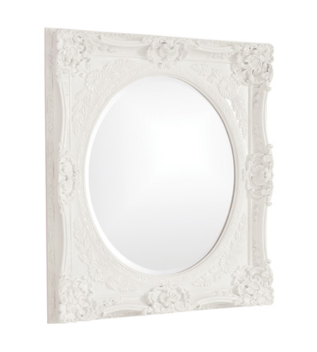 Howard Elliott Collection 51207W Monique 34 X 30 inch White Wall Mirror, Rectangle photo