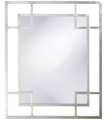 Howard Elliott Collection 51219 Lois 53 X 43 inch Platinum Silver Leaf Wall Mirror, Rectangle photo