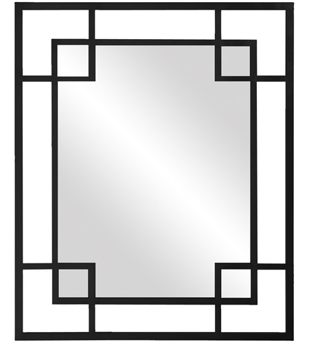 Howard Elliott Collection 51219BL Lois 53 X 43 inch Glossy Black Wall Mirror, Rectangle photo