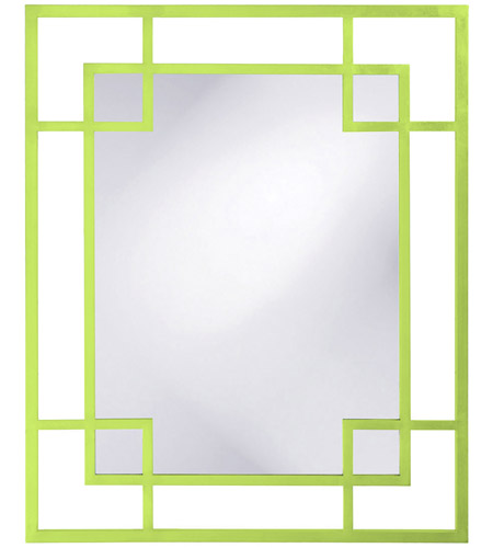 Howard Elliott Collection 51219MG Lois 53 X 43 inch Green Wall Mirror, Rectangle photo