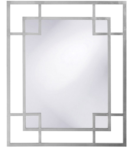 Howard Elliott Collection 51219N Lois 53 X 43 inch Nickel Wall Mirror, Rectangle photo