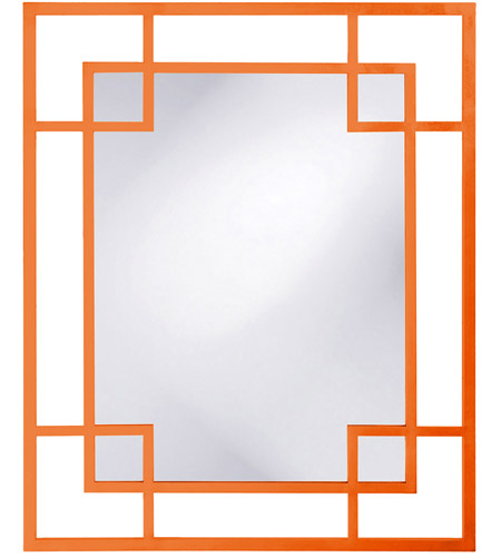 Howard Elliott Collection 51219O Lois 53 X 43 inch Orange Wall Mirror, Rectangle photo