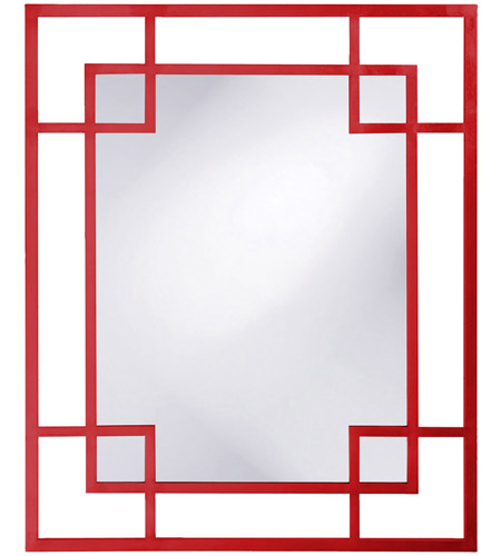 Howard Elliott Collection 51219R Lois 53 X 43 inch Red Wall Mirror, Rectangle photo