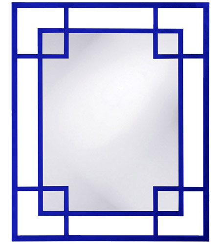 Howard Elliott Collection 51219RB Lois 53 X 43 inch Glossy Royal Blue Wall Mirror photo