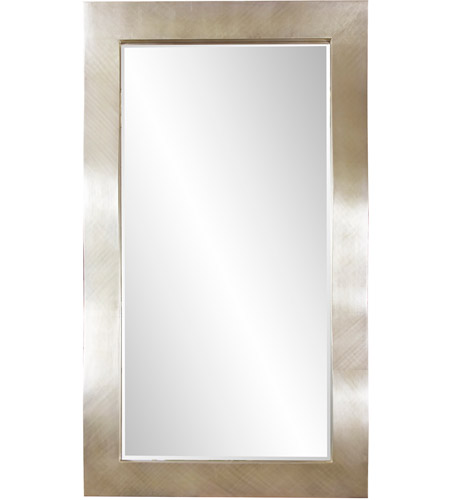 Howard Elliott Collection 51240 Montrose 84 X 48 inch Silver Leaf Finish Floor Mirror, Rectangle photo