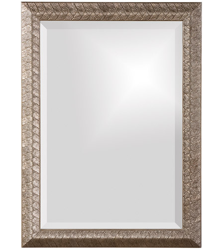 Howard Elliott Collection 51256 Malia 28 X 20 inch Silver Leaf Wall Mirror, Rectangle, Textured photo