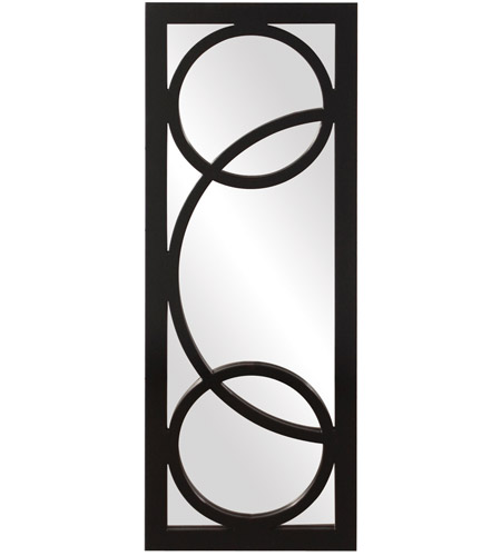 Howard Elliott Collection 51260 Dynasty 38 X 15 inch Black Lacquer Wall Mirror, Rectangle photo