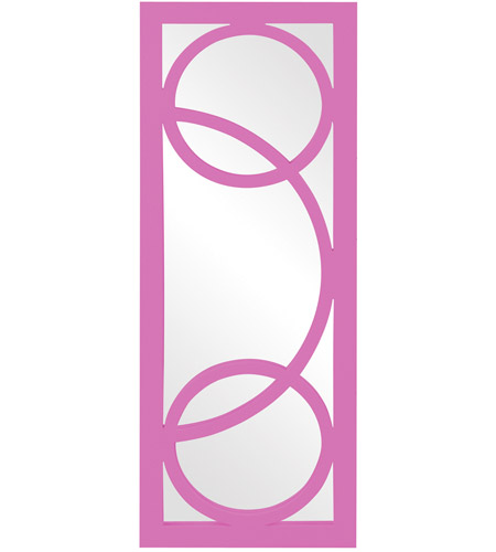 Howard Elliott Collection 51261HP Dynasty 38 X 15 inch Hot Pink Wall Mirror, Rectangle photo