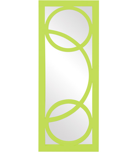 Howard Elliott Collection 51261MG Dynasty 38 X 15 inch Green Wall Mirror, Rectangle photo