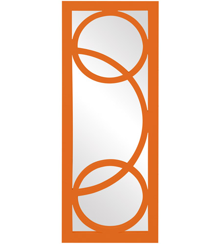 Howard Elliott Collection 51261O Dynasty 38 X 15 inch Orange Wall Mirror, Rectangle photo