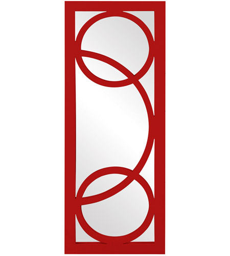 Howard Elliott Collection 51261R Dynasty 38 X 15 inch Red Wall Mirror, Rectangle photo