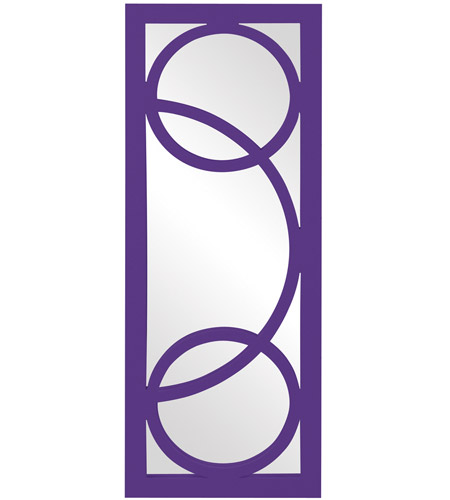 Howard Elliott Collection 51261RP Dynasty 38 X 15 inch Royal Purple Wall Mirror, Rectangle photo