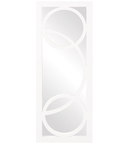 Howard Elliott Collection 51261W Dynasty 38 X 14 inch Glossy White Wall Mirror photo