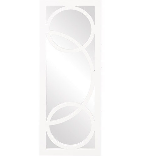 Howard Elliott Collection 51262 Dynasty 38 X 15 inch White Lacquer Wall Mirror, Rectangle photo