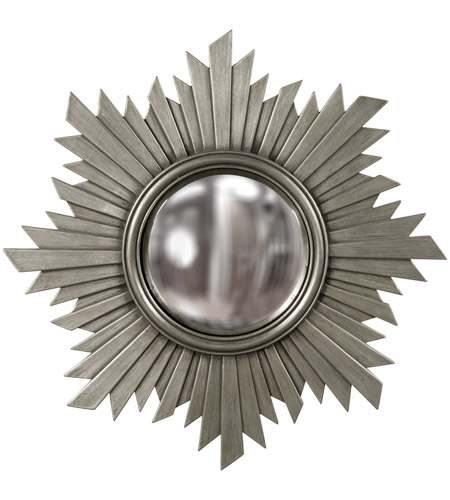 Howard Elliott Collection 51268N Euphoria 21 X 21 inch Nickel Wall Mirror photo