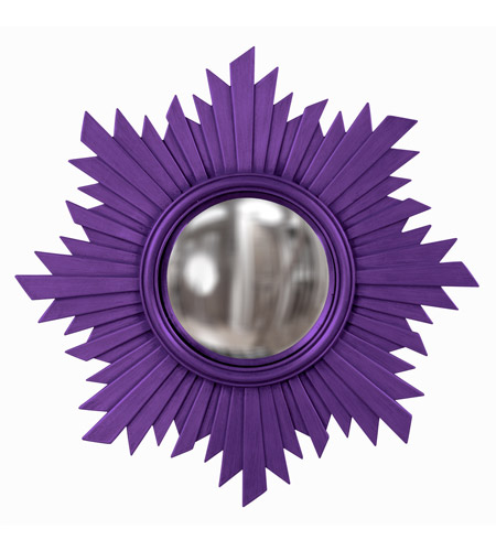 Howard Elliott Collection 51268RP Euphoria 21 X 21 inch Royal Purple Wall Mirror, Round photo