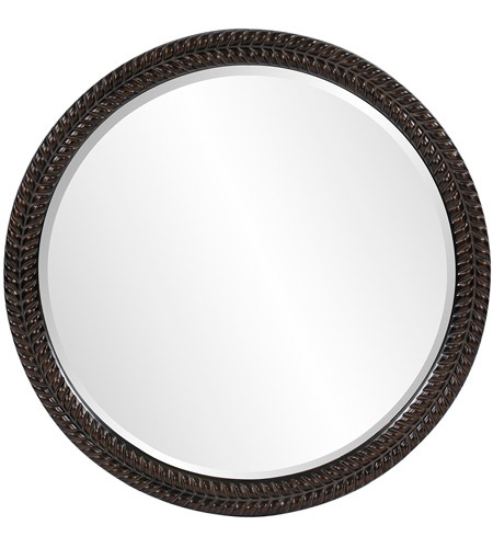Howard Elliott Collection 5128 Amelia 32 X 32 inch Antique Black Wall Mirror, Round photo