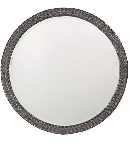 Howard Elliott Collection 5128CH Amelia Glossy Charcoal Wall Mirror photo