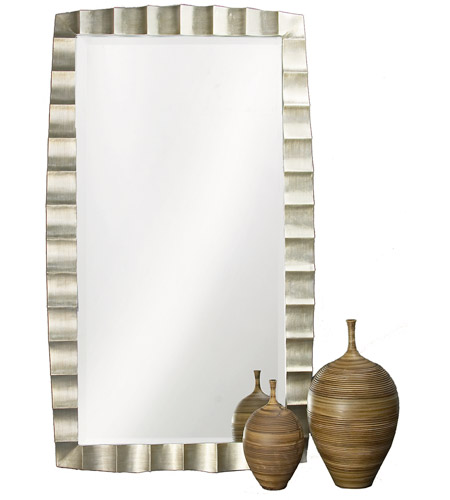 Howard Elliott Collection 5150 Bangkok 84 X 48 inch Burnished Silver Leaf Floor Mirror, Rectangle photo