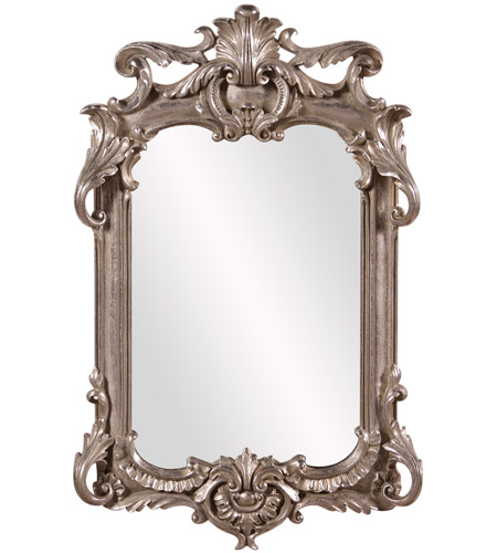 Howard Elliott Collection 52019 Eva 23 X 14 inch Antique Silver Leaf Wall Mirror photo