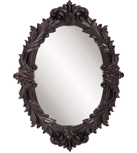 Howard Elliott Collection 52027 Diana 23 X 17 inch Antiqued Oil Rubbed Bronze Wall Mirror, Oval photo