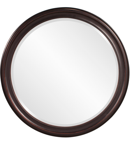 Howard Elliott Collection 53044 George 33 X 25 inch Oil Rubbed Bronze Wall Mirror, Round photo