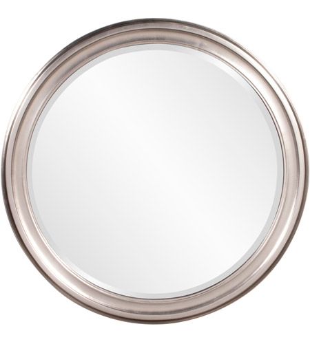 Howard Elliott Collection 53045 George 36 X 36 inch Brushed Nickel Wall Mirror, Round photo