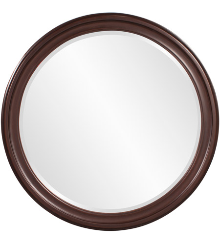 Howard Elliott Collection 53046 George 33 X 25 inch Wenge Brown Wall Mirror, Round photo