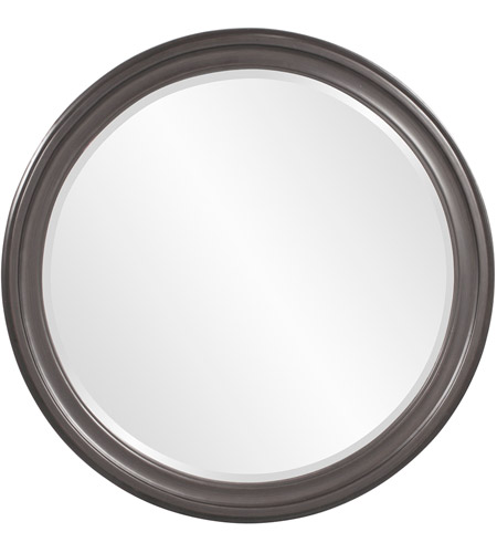 Howard Elliott Collection 53046CH George Glossy Charcoal Wall Mirror photo
