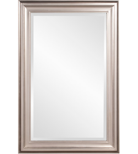 Howard Elliott Collection 53048 George 33 X 25 inch Brushed Nickel Wall Mirror, Rectangle photo
