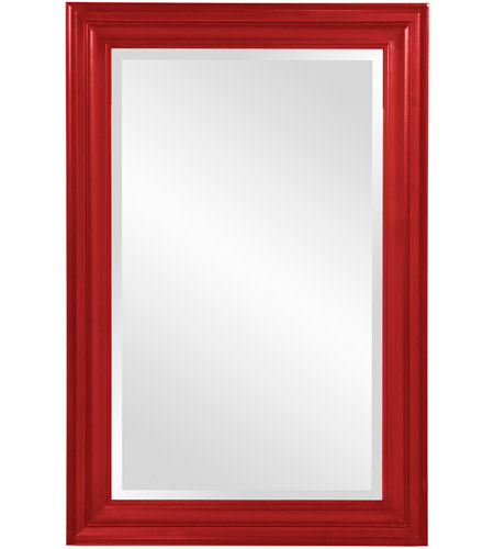 Howard Elliott Collection 53049R George 36 X 24 inch Glossy Red Wall Mirror photo