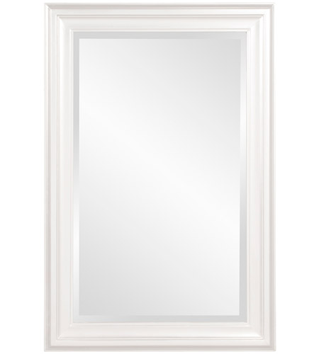 Howard Elliott Collection 53049W George 36 X 24 inch Glossy White Wall Mirror photo