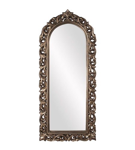 Howard Elliott Collection 53054 Orleans 72 X 30 inch Antique French Pewter Wall Mirror photo