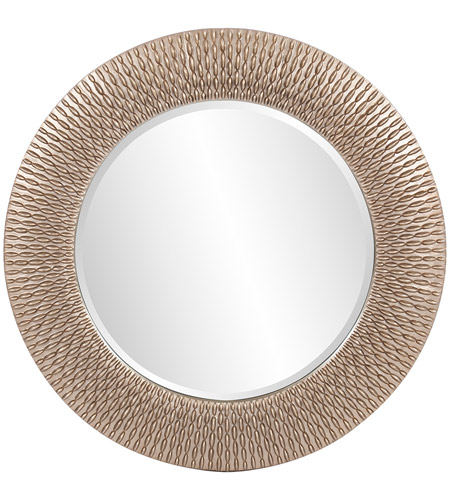 Howard Elliott Collection 53063 Bergman 32 X 32 inch Brushed Silver Leaf Wall Mirror, Ribbon, Small photo
