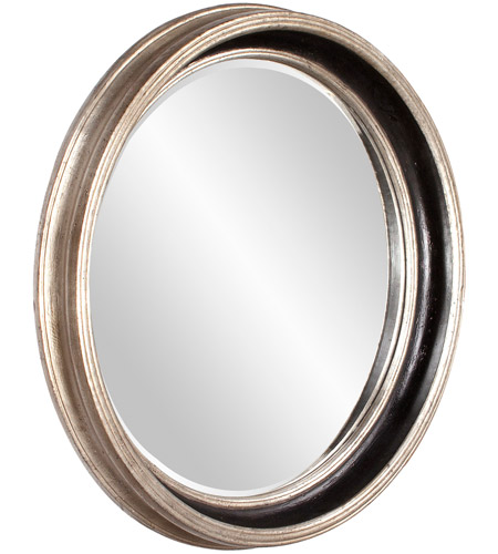 Howard Elliott Collection 53066 Cole 37 X 37 inch Champagne Silver Leaf Wall Mirror, Round photo