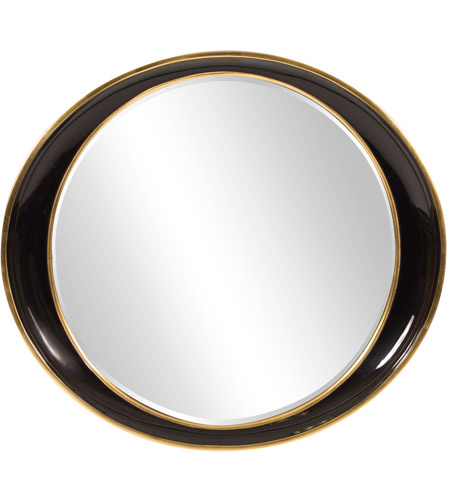 Howard Elliott Collection 53076 Ellipse 39 X 35 inch Black Wall Mirror photo