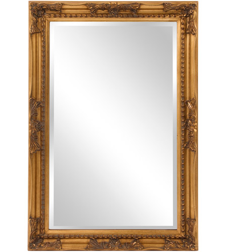 Howard Elliott Collection 53080 Queen Ann 33 X 25 inch Antique Gold Wall Mirror, Rectangle photo