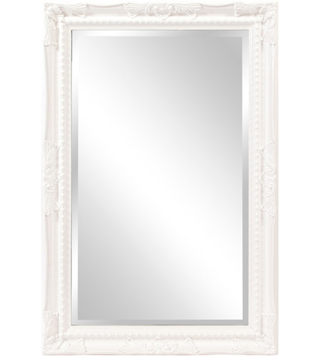 Howard Elliott Collection 53081 Queen Ann 33 X 25 inch Glossy White Wall Mirror, Rectangle photo