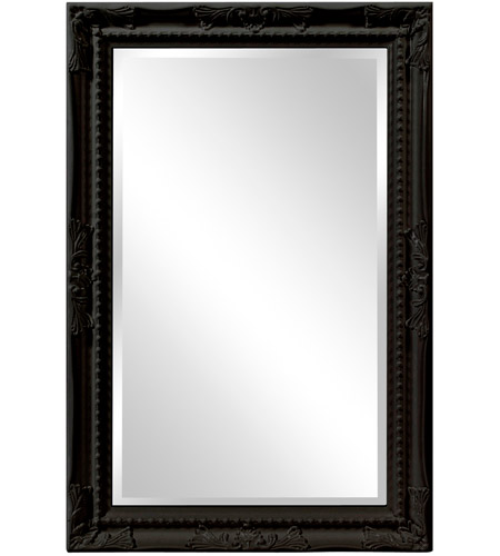 Howard Elliott Collection 53081BL Queen Ann 33 X 25 inch Black Wall Mirror photo