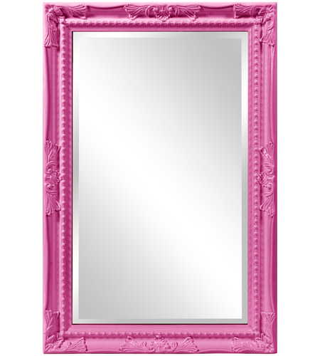 Howard Elliott Collection 53081HP Queen Ann 33 X 25 inch Hot Pink Wall Mirror photo