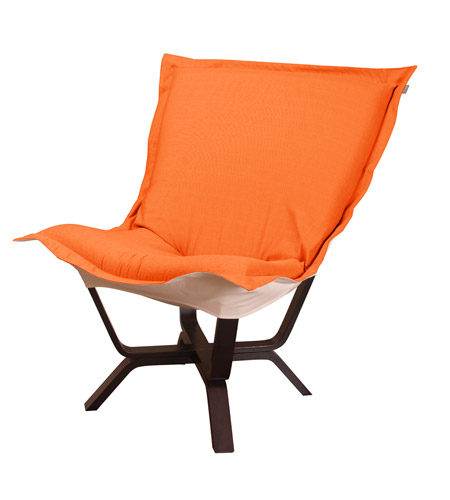 Howard Elliott Collection 540-229 Milan Puff Orange Accent Chair photo