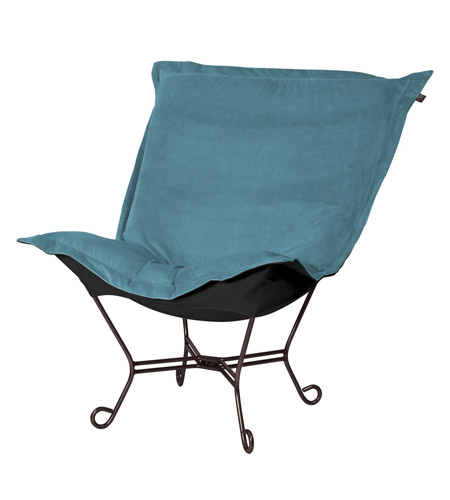 Howard Elliott Collection 555-250 Mojo Turquoise Blue Accent Chair photo