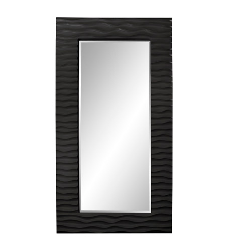 Howard Elliott Collection 56001BL Broadway 58 X 30 inch Black Wall Mirror photo